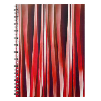 Impulsive Adventure Red Striped Abstract Pattern Spiral Notebook