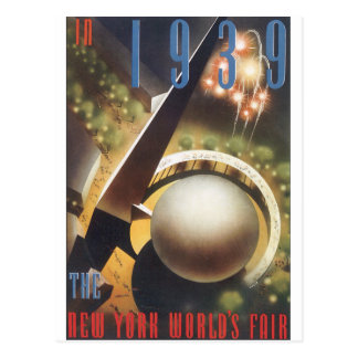 In 1939 New York's World's Fair Vintage Travel Pos Postcard