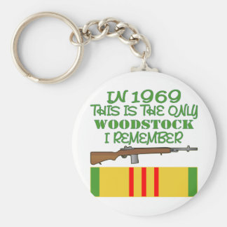 In 1969 The Only Woodstock I Remember Vietnam Keychain