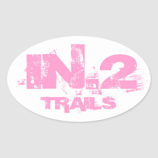 In.2 Trail Running Oval Decal Pink On White Oval Sticker