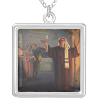 In a catacomb, 1900 silver plated necklace