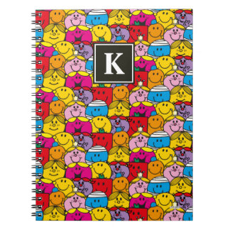 In A Crowd Pattern | Monogram Notebook