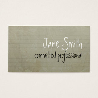 In a piece of paper business card