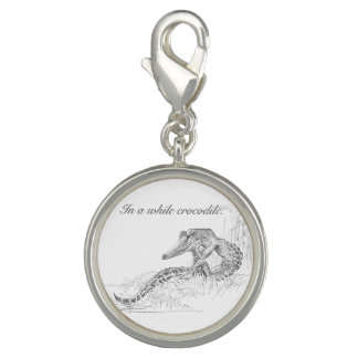 """""""In a while crocodile"""" cute vintage illustration Photo Charms"""