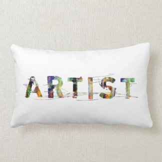 In A Word: Artist Colorful Lumbar Pillow