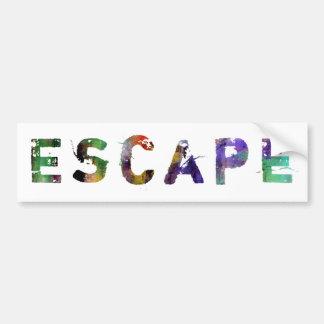 In A Word: Escape Bumper Sticker