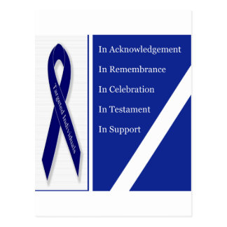 In Acknowledgement In Remembrance In Celebration I Postcard