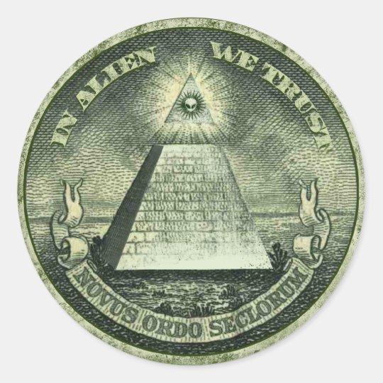 In Alien We Trust Sticker