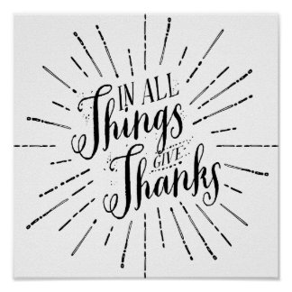 In All Things Give Thanks | Thanksgiving Poster