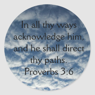 In all thy ways acknowledge him-cloud sticker