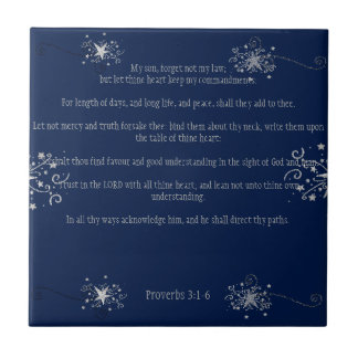 In All Thy Ways Acknowledge Him: Proverbs 3:1-6 Ceramic Tiles