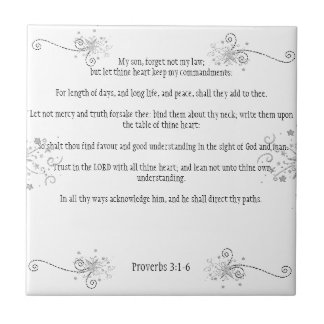 In All Thy Ways Acknowledge Him: Proverbs 3:1-6 Tiles
