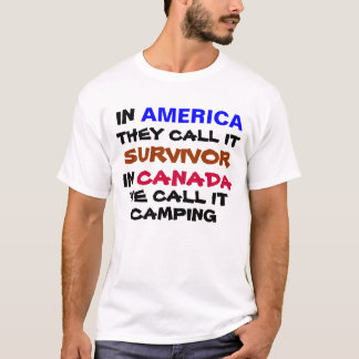 in america they call it survivor in canada t-shirt