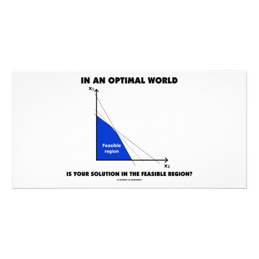 In An Optimal World Is Your Solution Feasible? Personalized Photo Card