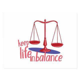 In Balance Postcard