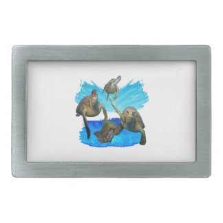 IN BEAUTIFUL WATERS RECTANGULAR BELT BUCKLES
