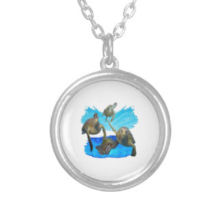 IN BEAUTIFUL WATERS SILVER PLATED NECKLACE