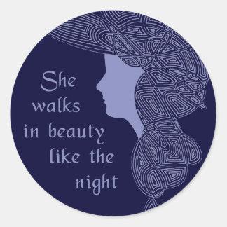 In Beauty Round Sticker
