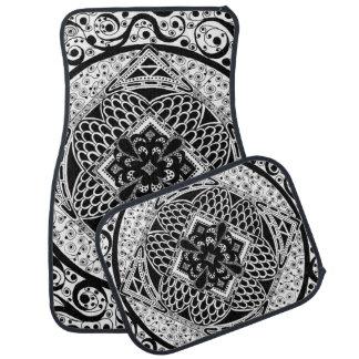 in Black & White Car Mat