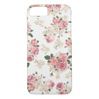 In bloom white and pink florals. iPhone 8/7 case