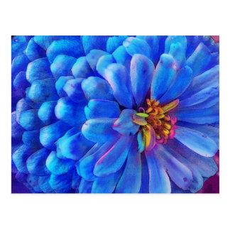 In blue postcard