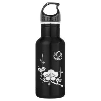 In branch plum medium shade plum butterfly 532 ml water bottle