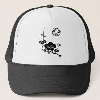 In branch plum medium shade plum butterfly trucker hat