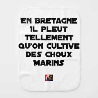 IN BRITTANY, IT RAINS SO MUCH THAT ONE CULTIVATES BURP CLOTH