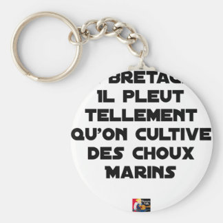 IN BRITTANY, IT RAINS SO MUCH THAT ONE CULTIVATES KEYCHAIN