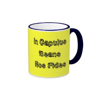 In Capulus Beans Nos Fides Ringer Mug