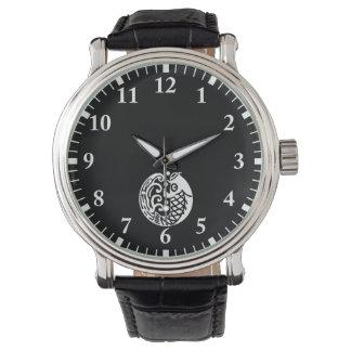 In carp wave wristwatch