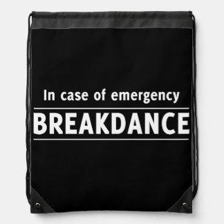 In Case of Emergency Breakdance Backpacks