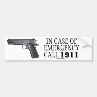 IN CASE OF EMERGENCY CALL 1911 BUMPER STICKER