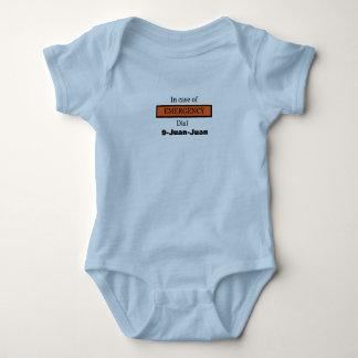 In Case of EMERGENCY Dial 9-Juan-Juan Baby Bodysuit