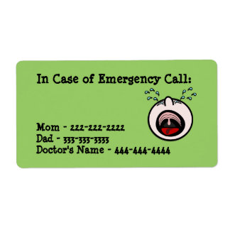 In Case of Emergency Labels