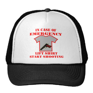 In Case Of Emergency Lift Shirt Start Shooting Trucker Hat