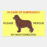 In Case of Emergency Newfoundland Dog Safety Sticker