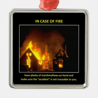 in-case-of-fire-have-plenty-of-marshmallows Silver-Colored square ornament
