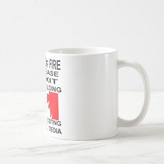 In Case Of Fire Please Exit The Building Before Coffee Mug