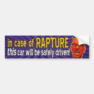In Case of Rapture Bumpersticker Bumper Sticker