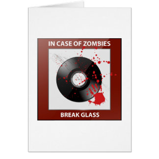 In Case Of Zombies Break Glass Card