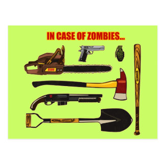 In Case of Zombies... Postcard