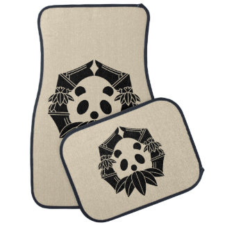 In change bamboo circle panda car mat