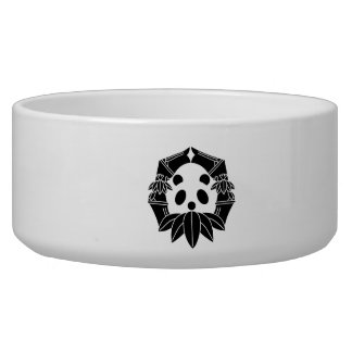 In change bamboo circle panda pet bowl