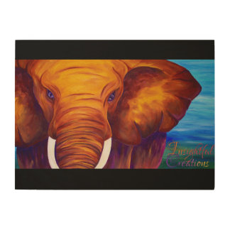 In charge elephant wood prints