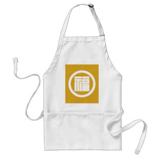 In circle angular letter of luck standard apron