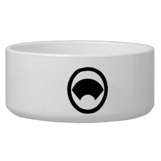 In circle area paper pet bowl
