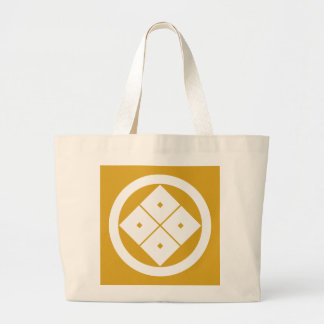 In circle corner raising four squares large tote bag