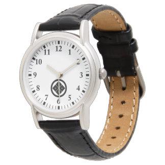 In circle corner raising four squares wrist watches