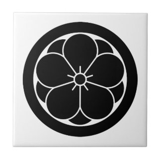 In circle eightfold plum tile
